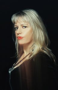 A portrait of the Australian singer Rebecca Barnard